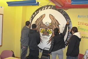 Ojibwe Language Classroom Mural